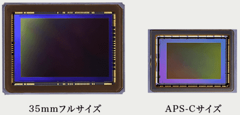 イメージセンサー フルサイズ APS-C 比較