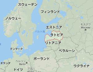 ラトビアのマップ