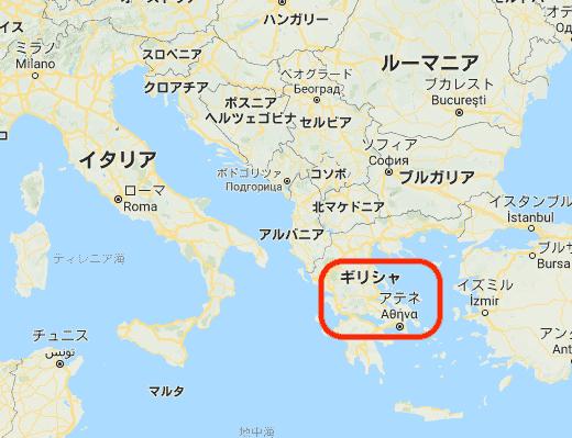 ギリシャのマップ