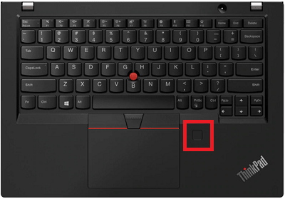 Lenovo thinkpad x390の指紋センサー
