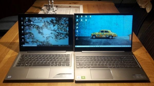 ノートパソコン 13型と15型の比較