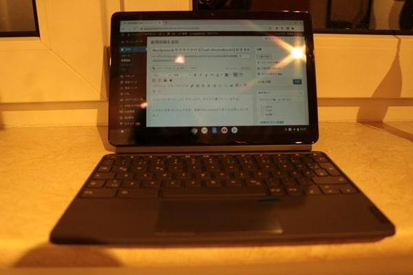 旅行ブロガーにおすすめのパソコン・Lenovo IdeaPad Duet Chromebook