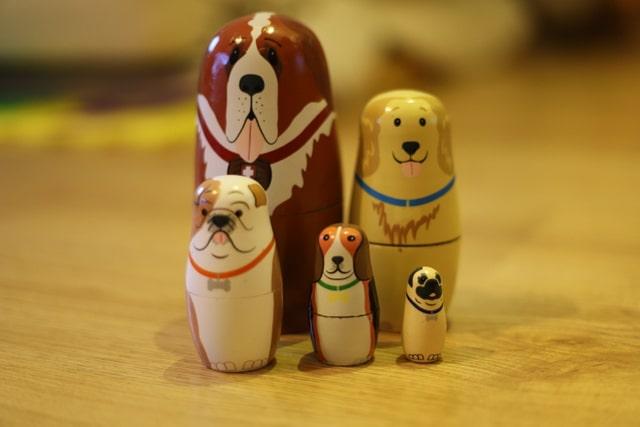 ドイツで人気 木のおもちゃ マトリョーシカ