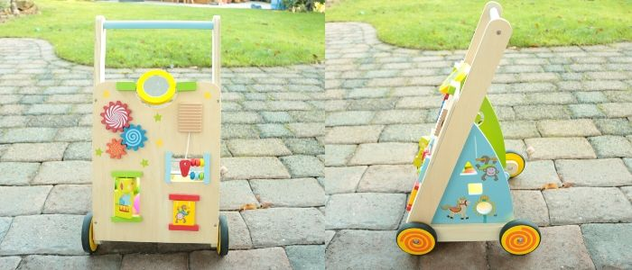 ドイツで人気 木のおもちゃ 押し車