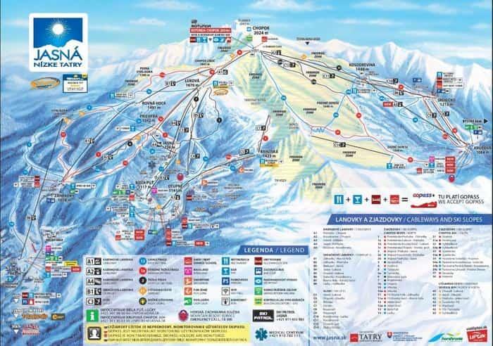 スロバキア ヤスナ スキー場