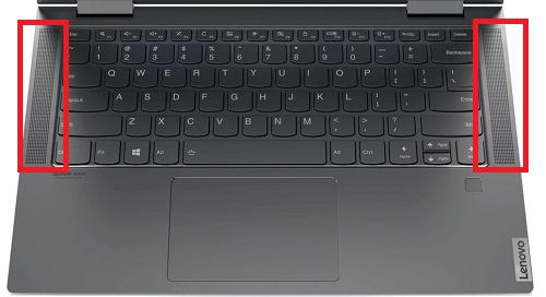 Lenovo yoga c740のレビュー。スピーカーはキーボードの横に付いている