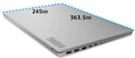Lenovo thinkbook 15のサイズ
