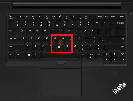 Lenovo ThinkPad E495のレビュー・トラックポイント