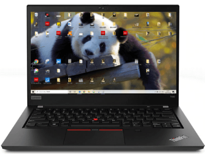 Lenovo thinkpad t490のディスプレイ