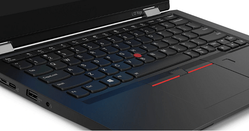 Lenovo thinkpad l13 Yogaのキーボード