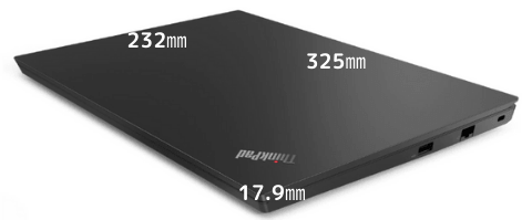 Lenovo thinkpad e14のサイズ