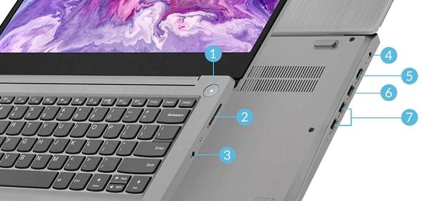 Lenovo ideapad slim 350のインターフェイス