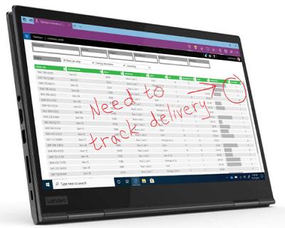 Lenovo ThinkPad X1 Yoga Gen 5・タブレットモード