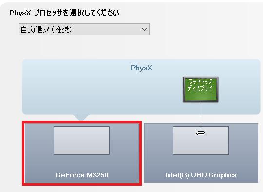 NVIDIA Geforce MX250の性能