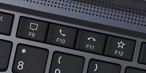 Lenovo ThinkPad X1 Yoga Gen 5のファンクションキーにビデオ電話受信・終了ボタンがある