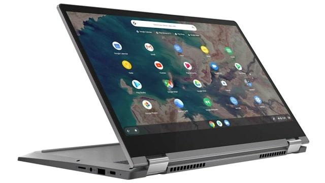 Lenovo IdeaPad Flex 550i ChromeBook スタンドモード