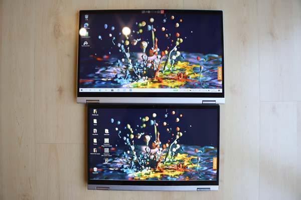 Lenovo Ideapad Flex 550i 14型と15型・タブレットモード