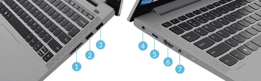 Lenovo IdeaPad Slim 550iのインターフェイス