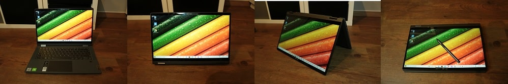 Lenovo IdeaPad Flex 550i(15)の外観・2 in 1 PC
