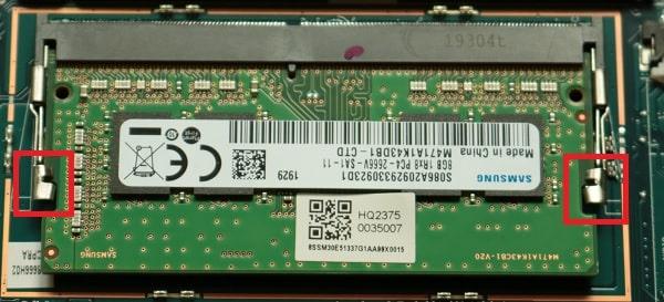 Lenovo Ideapad s540メモリの交換方法・メモリの外し方