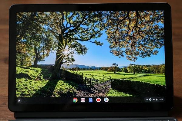 Lenovo Ideapad duet Chromebookのディスプレイ