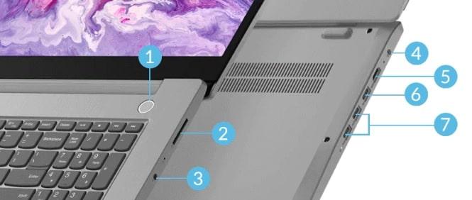 Lenovo IdeaPad Slim 550(17)のインターフェイス