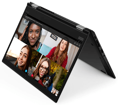 Lenovo Thinkpad x390 Yogaの外観・テントモード