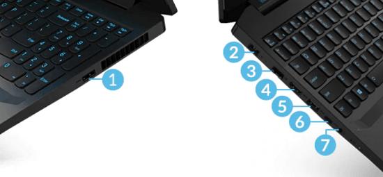 Lenovo IdeaPad Gaming 350iのインターフェイス