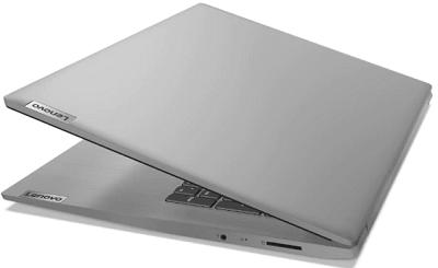 Lenov IdeaPad Slim 350(17)の外観・天板とロゴ