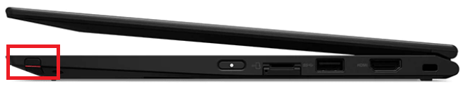 Lenovo Thinkpad x390 Yogaのペン収納場所