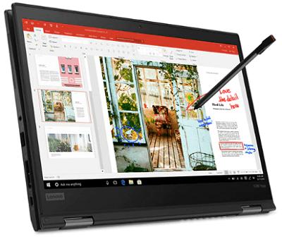 Lenovo Thinkpad x390 Yogaの外観・アクティブペンで書き込み