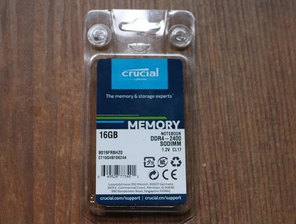 IdeaPad S540に搭載できるメモリ