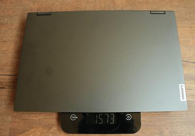 Lenovo Ideapad flex 550の重さ測定