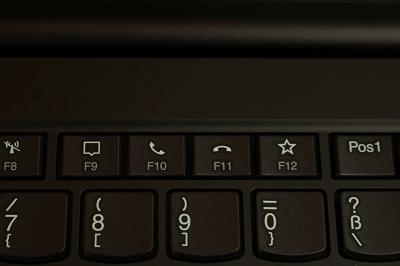 Lenovo Thinkpad x1 extreme gen 3のキーボード・ビデオ電話受信・終了ボタン