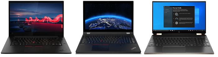 Lenovo ThinkPad X1 Extreme Gen 3と比較機種の筐体