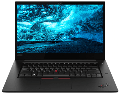 Lenovo thinkpad x1 Extreme gen 2の外観・正面