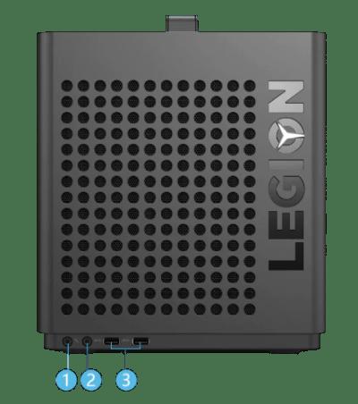 Lenovo Legion C730のインターフェイス・前面