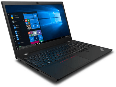 Lenovo ThinkPad P15vの外観・左斜め前から