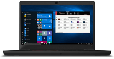 Lenovo ThinkPad P15vの外観・正面から