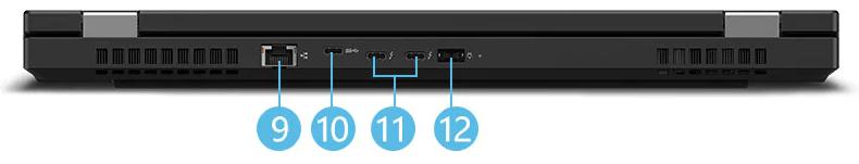 Lenovo thinkpad T15gのインターフェイス・背面