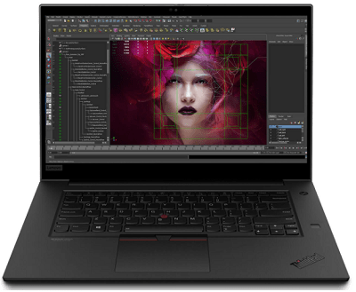Lenovo ThinkPad P1 Gen 3の外観・正面