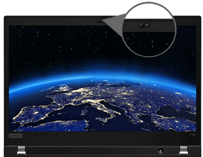 Lenovo thinkpad P14sのディスプレイ ThinkShutter搭載