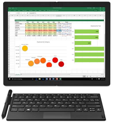 Lenovo ThinkPad X1 Foldの外観 タブレットの様に使っているところ