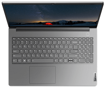 Lenovo thinkbook 15 Gen 2の外観 上から