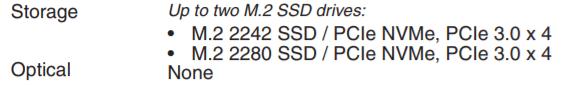 Lenovo thinkbook 15pのストレージの種類