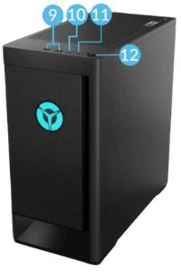 Legion T550 AMDの前面インターフェイス