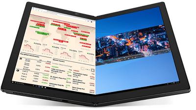 Lenovo ThinkPad X1 Foldのディスプレイ・2分割表示可能