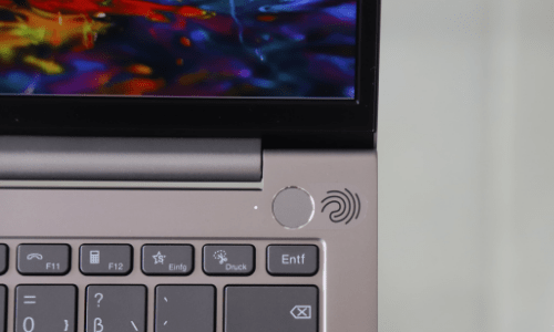Lenovo ThinkBook 13s Gen 2の指紋センサー