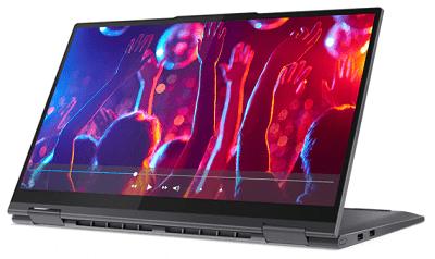 Lenovo Yoga 750i(第11世代CPU)の外観 スタンドモード