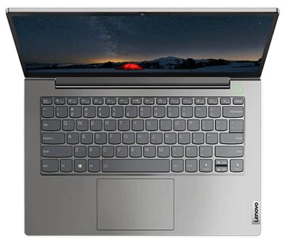Lenovo thinkBook 14 Gen 2 AMDの外観 上から